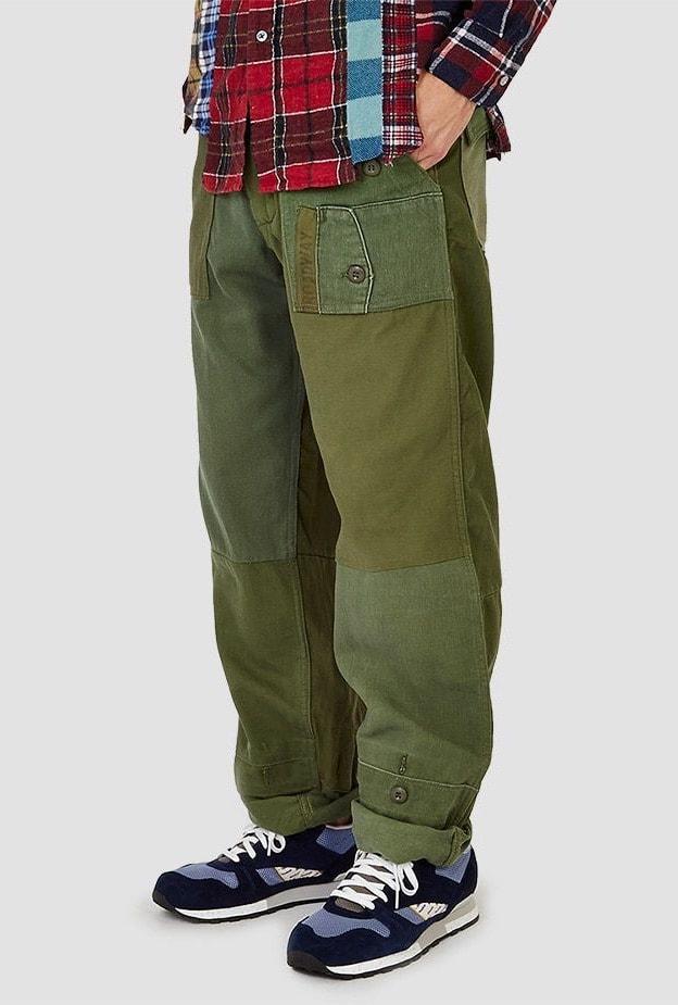 Мужские брюки с широкими штанинами