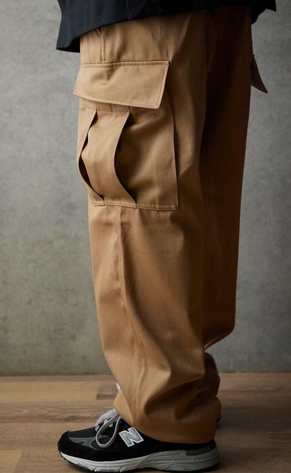 Широкие мужские брюки.